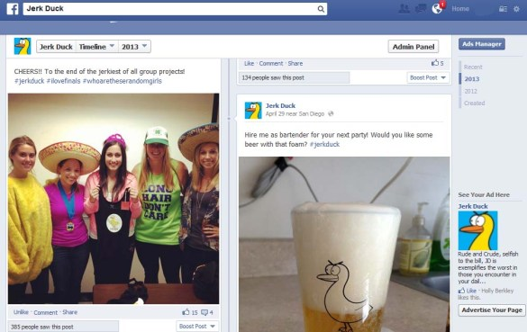 They came up with creative, fun ways to attract the college audience to the new Twitter and Facebook accounts.